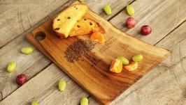 Кухонна дошка дощечка з дерева Разделочная доска для кухни еды «Живой край»