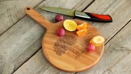 Кухонна дошка дощечка з дерева Разделочная доска кухни продуктов «Кочерга»