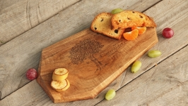 Кухонна дошка дощечка з дерева Разделочная доска для кухни еды «Грани»