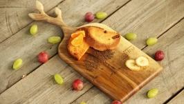 Кухонна дошка дощечка з дерева Разделочная доска для кухни еды «Веточки»