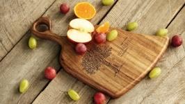 Кухонна дошка дощечка з дерева Разделочная доска для кухни еды «Веник»