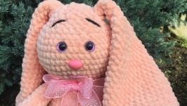 Зайчонок розовый с бантом