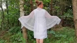 Весільна лляна шаль для нареченої