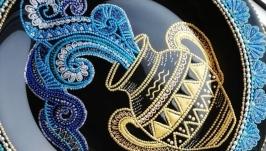 Тарелки декоративные. Знаки зодиака ′Водолей′