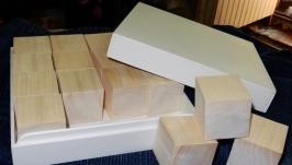 Кубики. Набор.  16 шт. в коробке
