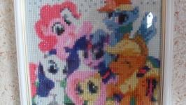 Картина ′Пони′ Алмазная вышивка