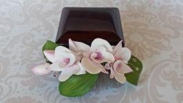 Гребень с орхидеями дендробиум