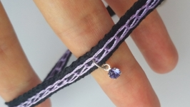 Чокер «Swarovski Purple»
