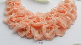 Колье цветочное , колье розовое