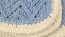 ′Зефірка′ в′язаний плюшевий плед для малюка