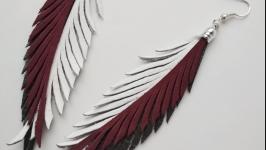 Кожаные серьги ′Jilly′