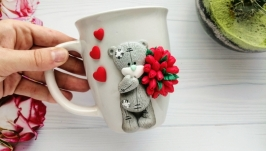 Кружка с мишкой Тедди