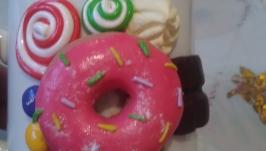 Кружечка с декором из полимерной глины ′Вкусняшки′