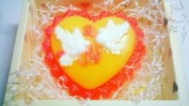 Мыло Сердце с ароматом клубники со сливками