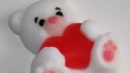 Мыло Мишка с ароматом клубники со сливками