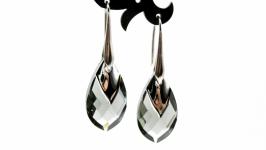 Серьги ′Black Diamond′ Swarovski серебро 925