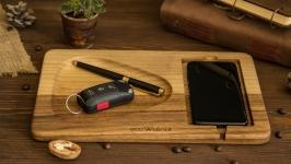 Органайзер з дерева, Органайзер из дерева EcoWalnut для телефона на стол
