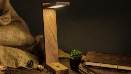 Настільна лампа, Настольная лампа из дерева с Вашим Логотипом EcoWalnut