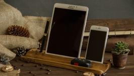 Органайзер для гаджетів, Подставка на рабочий стол из дерева для телефона