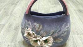 Валяная сумка ′Сиреневые дали′