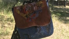 Валяная сумка клатч ′Город′