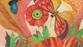 Бабочки в маках