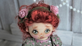 Куколка Ариша интерьерная текстильная