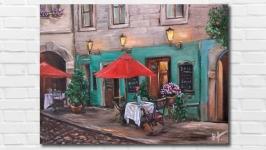 Интерьерная картина ′Вечернее кафе′