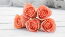 Шпильки для волос с розами в прическу