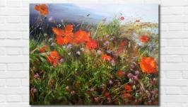 Картина маслом ′Весна на Кипре′