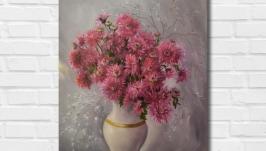 Картина маслом ′Хризантемы′