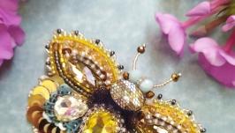 Брошь ′Медовая бабочка′