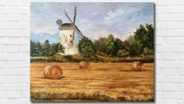 Картина маслом ′Золото лета′ 40х50 см, холст на подрамнике, масло