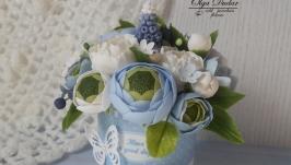 Букет для декору блакитний