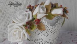 Обруч Білі троянди