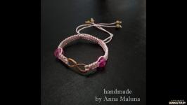 Браслет ручной работы ′Знак бесконечность′ (розовый)