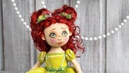 Куколка  текстильная Сладкая карамелька