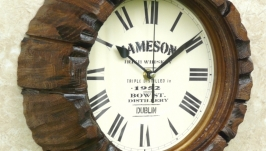 Часы настенные ′бочка от виски′. N 7