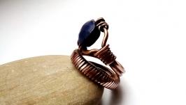 Кольцо Cobra от Rome Paul из серии CUPRUM, природный лазурит