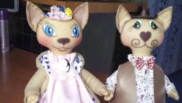 Интерьерная игрушка Пара котов
