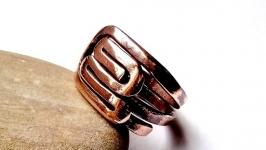 Кольцо-амулет Maya-A из серии CUPRUM, стиль Wire Wrap