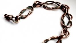 Уникальный браслет Barocco из серии CUPRUM, стиль Wire Wrap