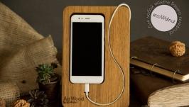 Подставка для телефона Number, Підставка для телефону з дерева EcoWalnut