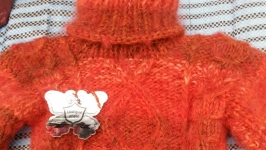 детский толстый свитер терракок