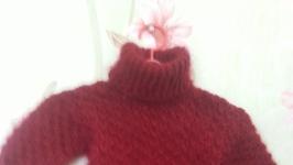 детский пуховый свитер вишня