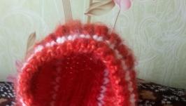 пуховые шапки чепчики