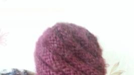 вязанная толстая шапка