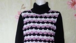длинный свитер туника
