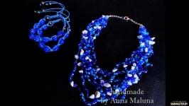 Комплект украшений ручной работы ′Звездное небо′ (ожерелье, браслет)