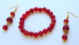 Комплект украшений ручной работы ′Императрица Китая′ (браслет, серьги)